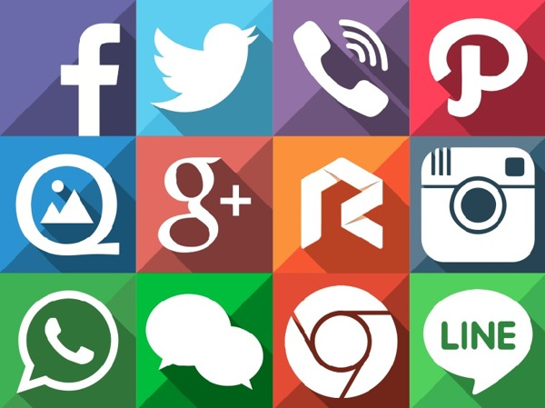 long-shadow-flat-social-media-icons