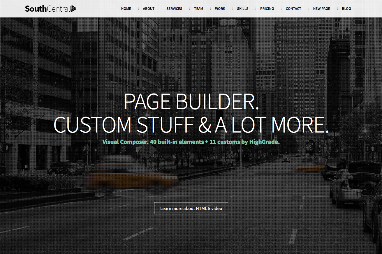 southcentral one page parallax wordpress theme flat design inspiration