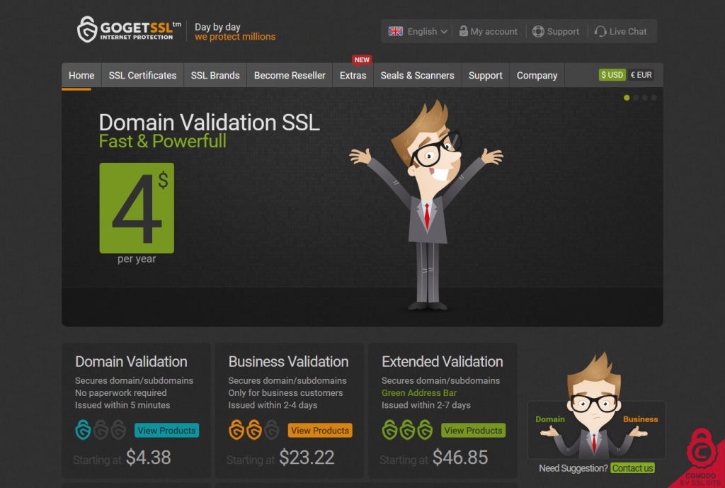 Cheap SSL Certificates starting at $3.65 per year from GoGetSSL 2016-07-01 15-04-29