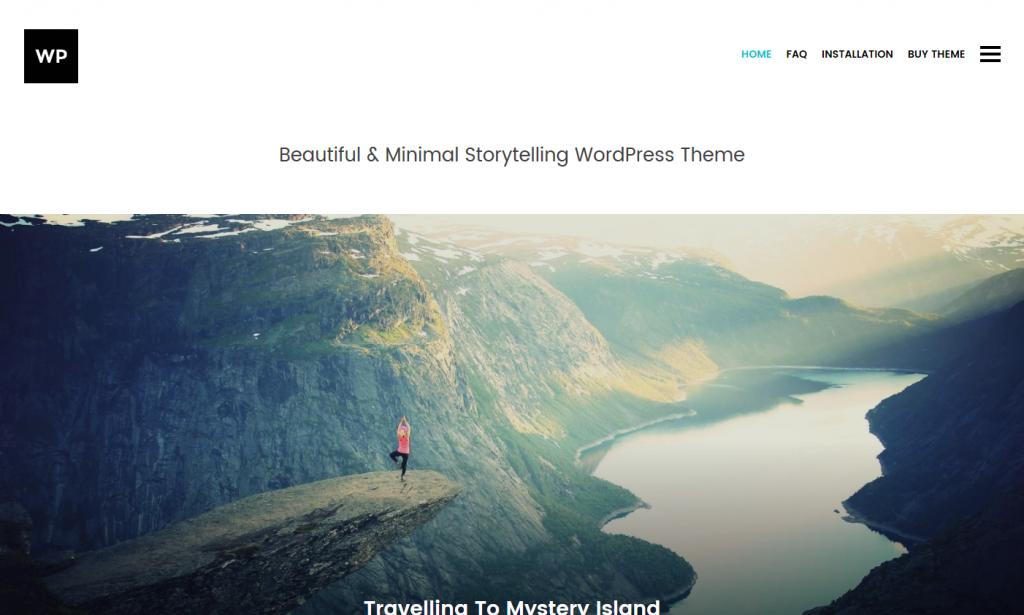 Storytelling WordPress Blog Theme   Beautiful   Minimal Storytelling WordPress Theme