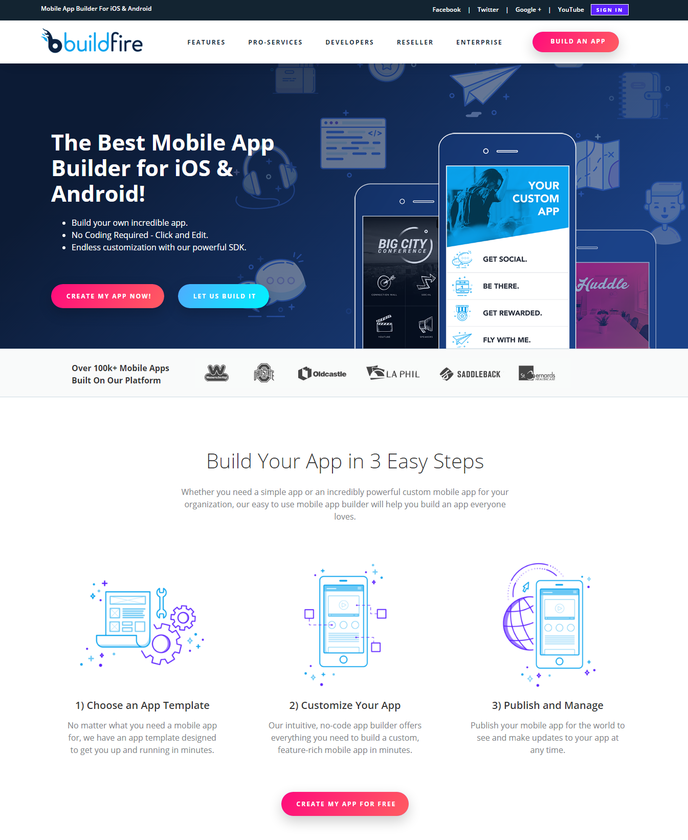 BuildFire - Mobile App Builder For iOS And Android - Flat Design